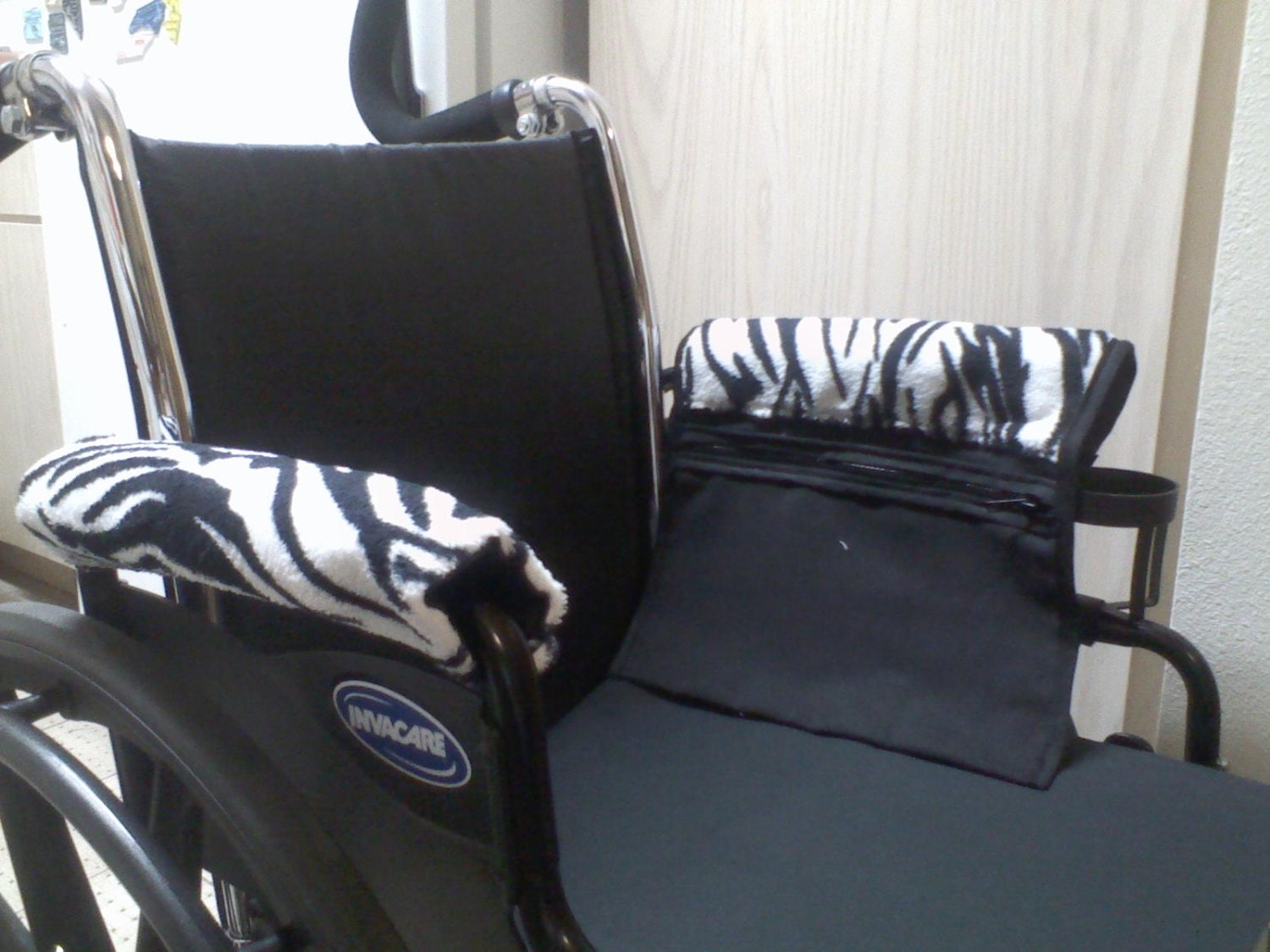 chair arm protectors with pockets how to make a santa hat cover handmade wheelchair or power armrest pouch bag