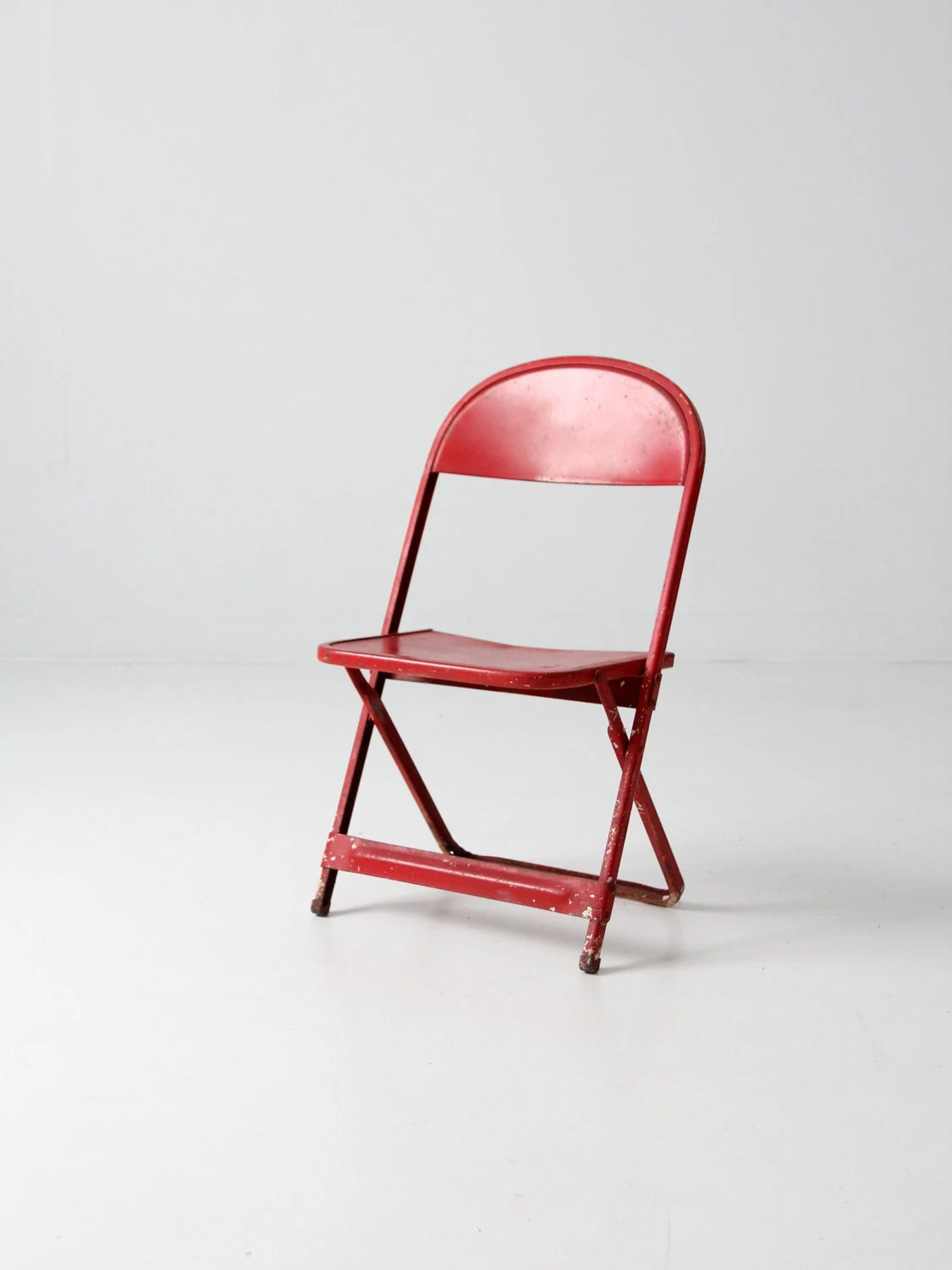 Kids Folding Chair Vintage Children 39s Chair Red Folding Chair