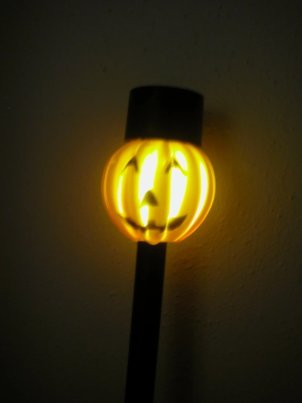 Items similar to 2 Pumpkin Solar Lights Halloween Lanterns