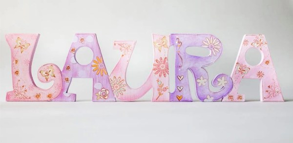 Items similar to Personalized Decor Name quotLauraquot Baby
