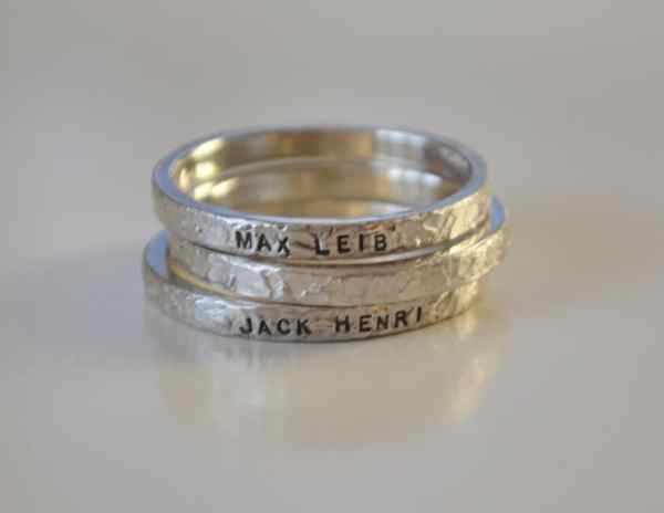 Personalized Hand Stamped Rings Baby