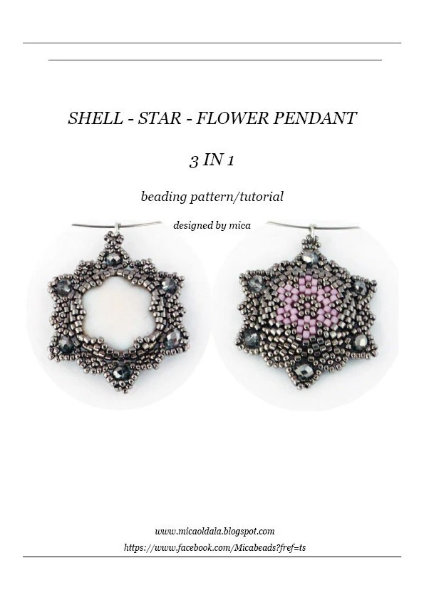 Shell-Star-Flower 3 in 1 Pendant Beading Pattern/Tutorial