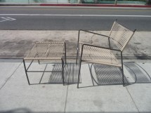 Outdoor Patio Chair And Ottoman Mid Century Modern
