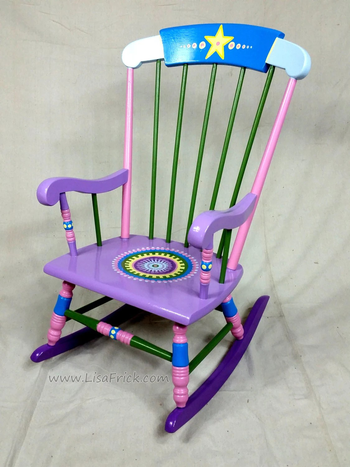 Childrens Rocking Chair Child 39s Rocking Chair Custom Hand Painted Furniture Made