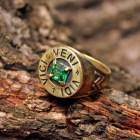 Bronze Green Chrysolite Veni Vidi Vici Caesar Roman Sun Jupiter Arrow Victory Ring Size 10