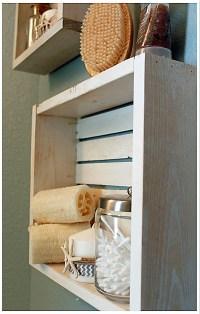 White Nautical/Beach Shelf Bathroom Shelf Beach Crate Shelf