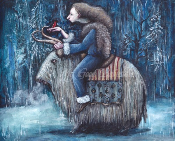 Winter Queen Original Painting Long Haired Yak