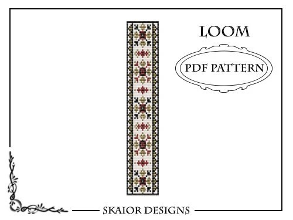 Loom Beading Pattern Loom Bracelet Tribal Geometric Seed Beads