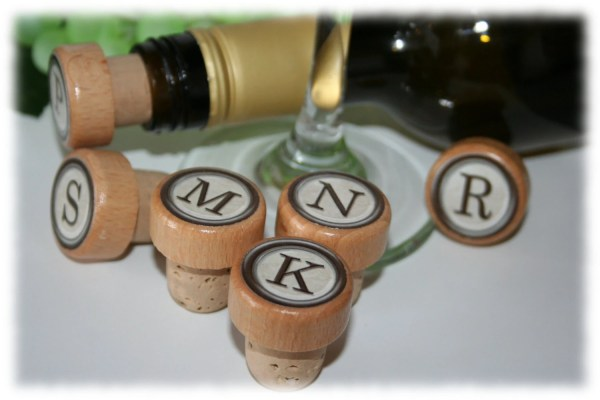 Monogram Wine Stoppers Personalized Stopper Wedding