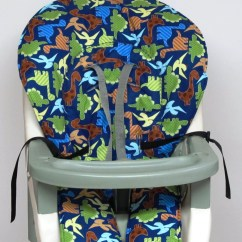 High Chair Pad Graco Dining Room Seat Covers Diy Cover Replacement Dinosaurs By