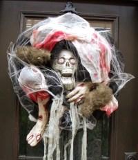 Gory Halloween Wreath Scary Halloween Decor Decoration Skull