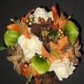 Orange mossy oak wedding bouquet set camouflage by bridalbouquets
