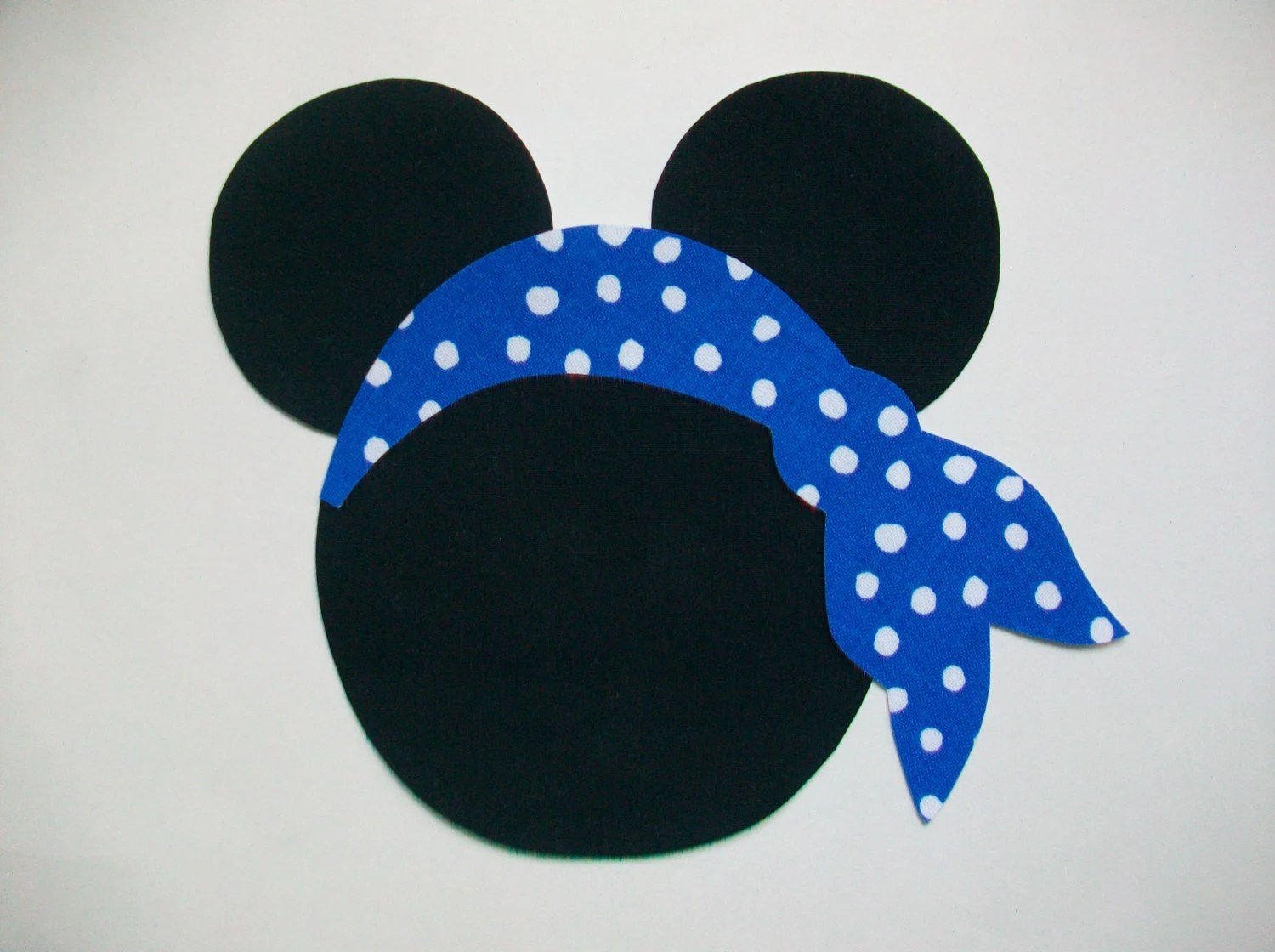 Iron On Minnie Mouse Applique With Ribbon And By MaggiesCastle