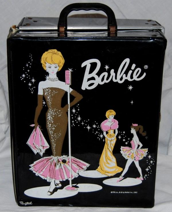 Vintage Barbie Doll Black Carrying Case. In 1962
