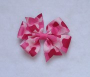 basic hair bows pink camo