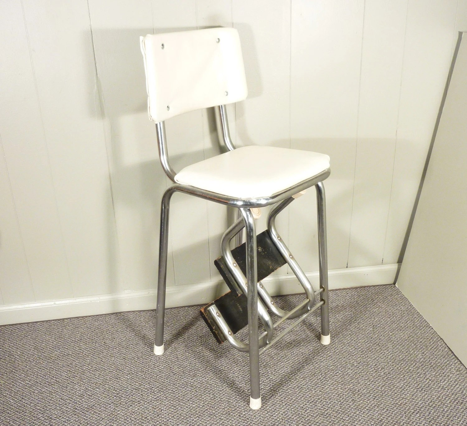 kitchen step stool with seat makeover contest retro 50s vintage chair by