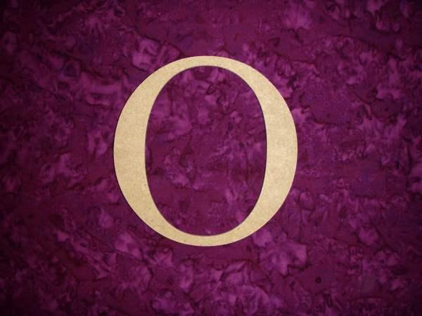 Greek Letter Omicron Symbol Wooden Mdf Letters 12