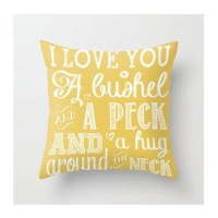 I Love You a Bushel and A Peck Throw Pillow by BeckyMcCreary