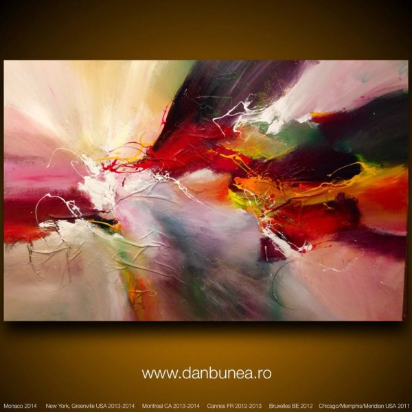 Large Abstract Painting Dan Bunea