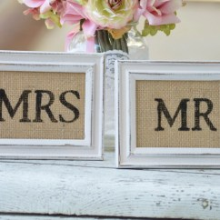 Mr And Mrs Chair Signs Nursery Rocking Chairs Canada Rustic Wedding Bride Groom