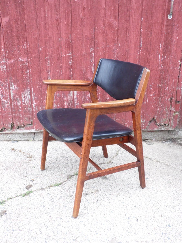 wh gunlocke chair folding rental nyc w h mid century desk office wood
