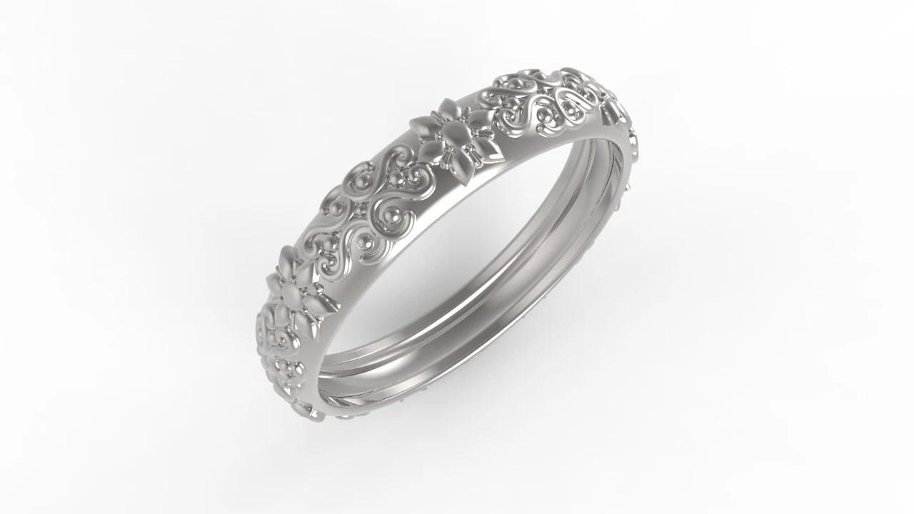 14kt Rose gold Antik Ehering Ring Hochzeit Frau