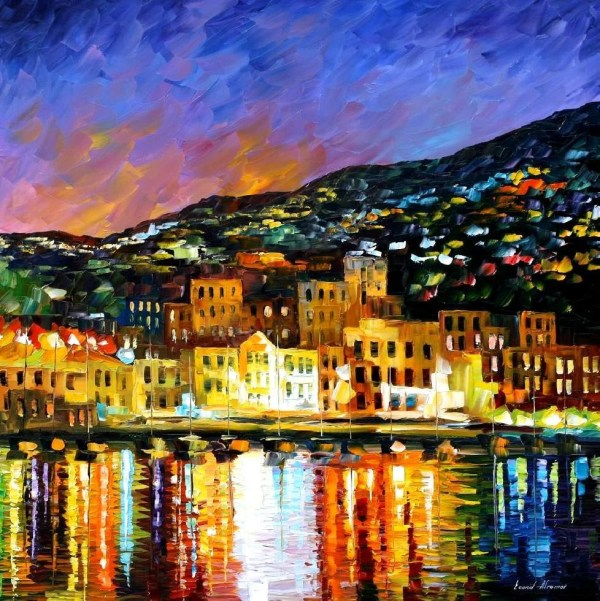 Portugal Wall Art Madeira Island Oil Painting Canvas