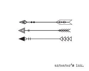 arrow tattoo bow temporary simple tattoos