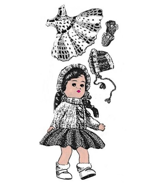 Wardrobe Pattern 7 for Ginny Doll & Other 7-1/2 to