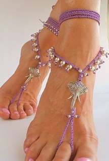 Hippie Beach Wedding Barefoot Sandals