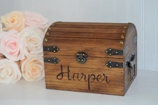 Personalized Baby Keepsake Box