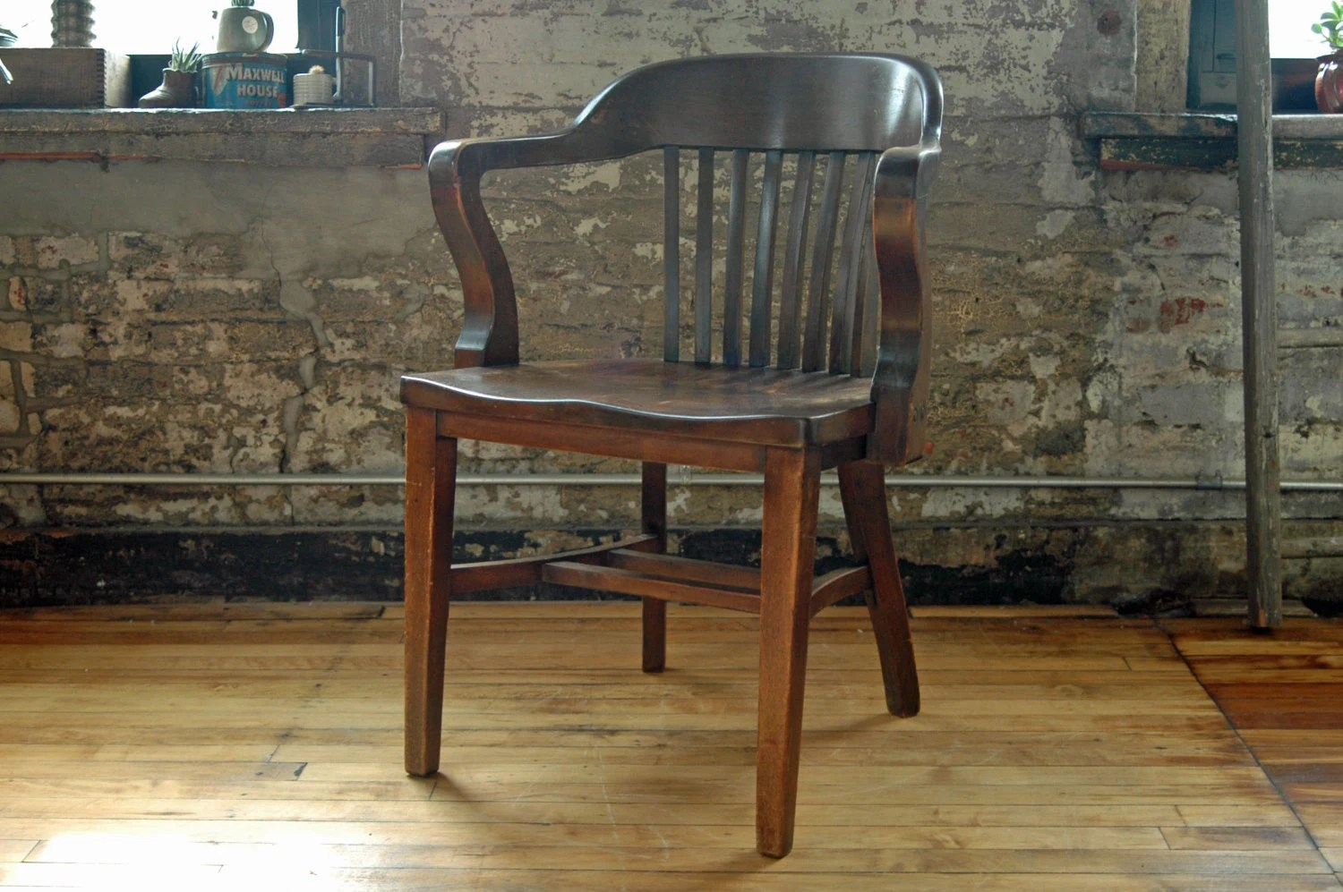 saddle seat chairs reviews chrisanna wingback club chair reserved for erin: vintage wooden juror by territoryhomegoods