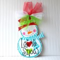 Door hanger snowman christmas decor christmas door hanger holiday