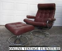 Ekornes Norway Lounge Chair vintage mid by OnVintageFurniture