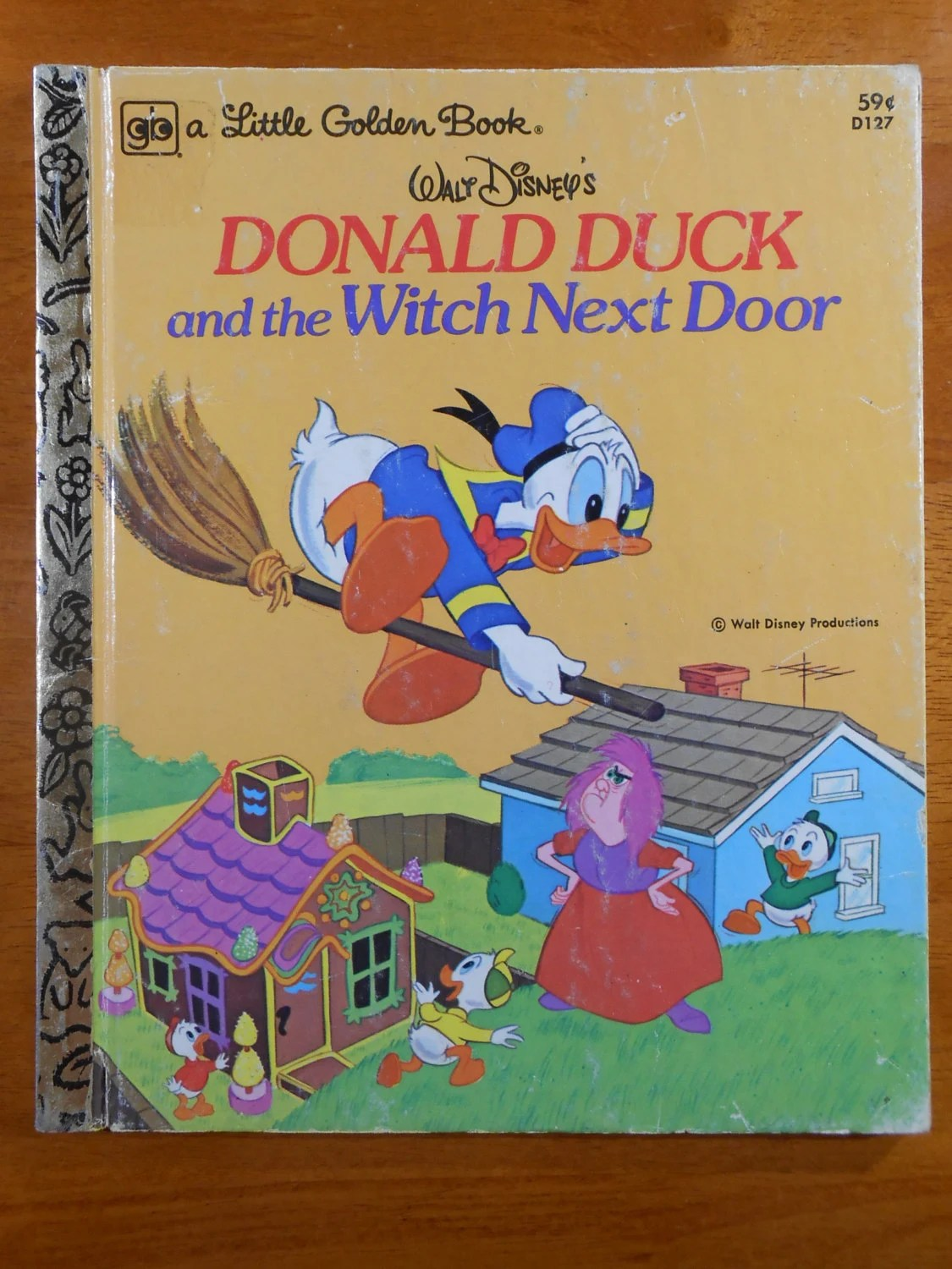 Donald Duck And The Witch Next Door A Little Golden Book