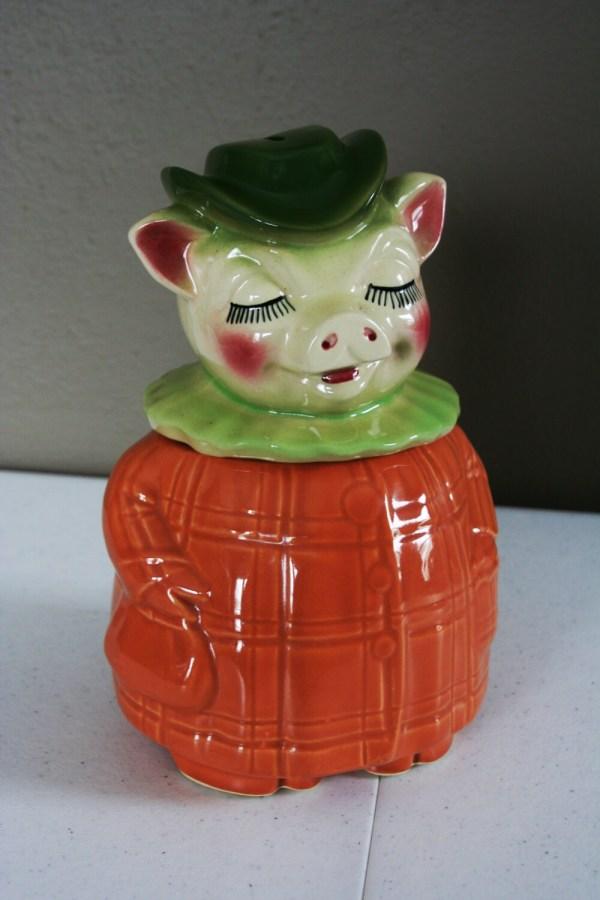 Winnie Pig Cookie Jar-vintage Shawnee Pottery-pumpkin Coat