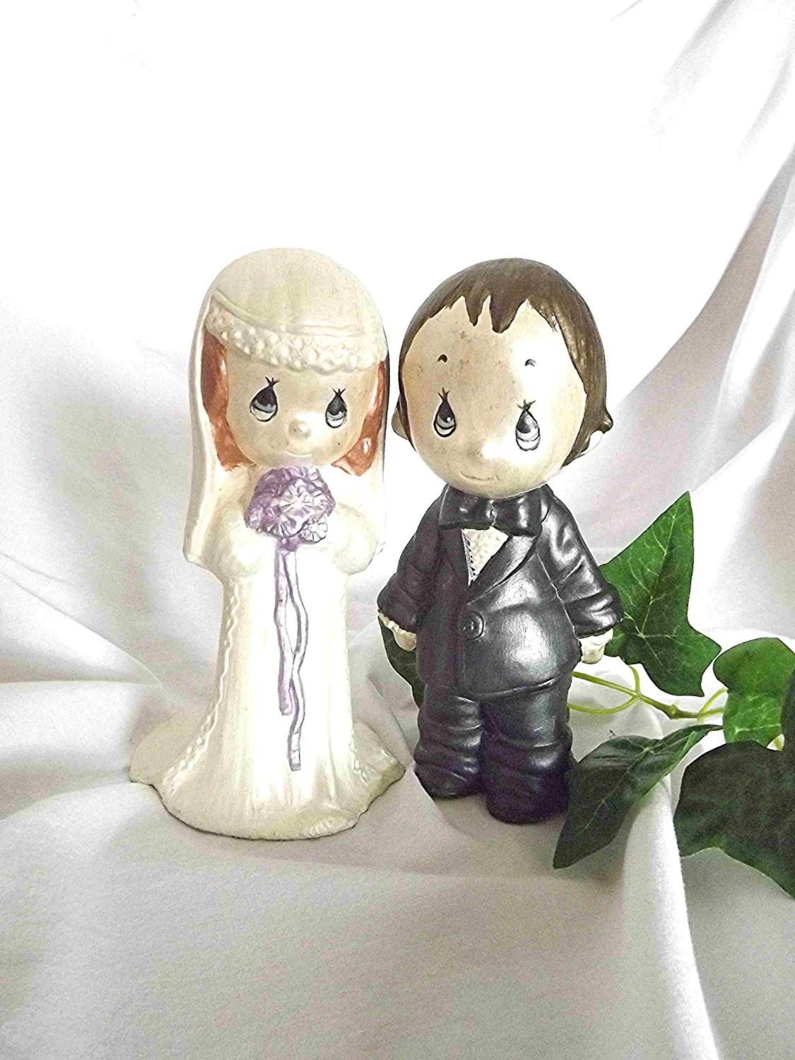 Vintage Figurines Bride And Groom Cake Topper by NanisGarden