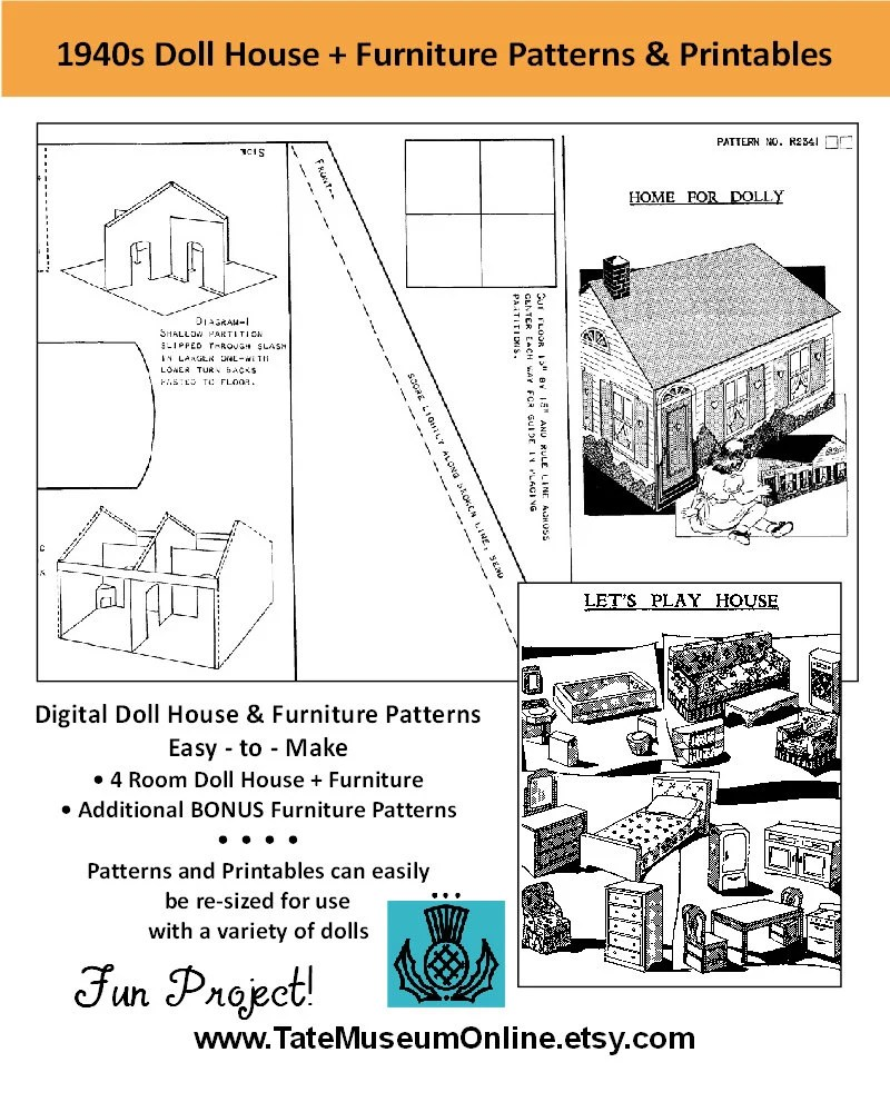 Popular items for doll house pattern on Etsy