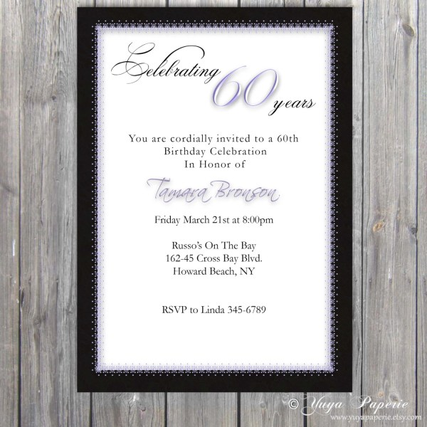 90th Birthday Invitations Adults