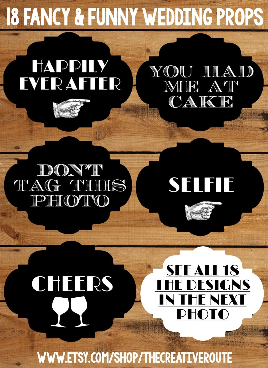 Wedding Photo Booth Props 18 Funny Printable Signs For A DIY