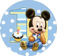 Baby mickey cake topper - Lookup BeforeBuying
