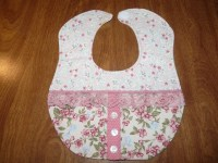 Handmade Quilted Lace Baby Bib