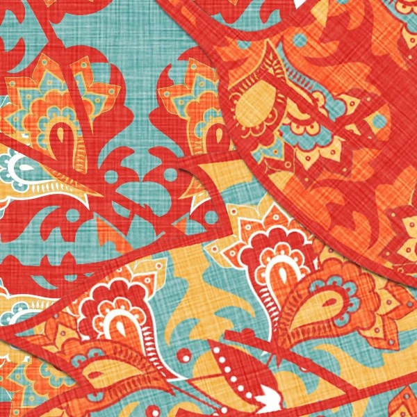paisley leaves and washi tapes