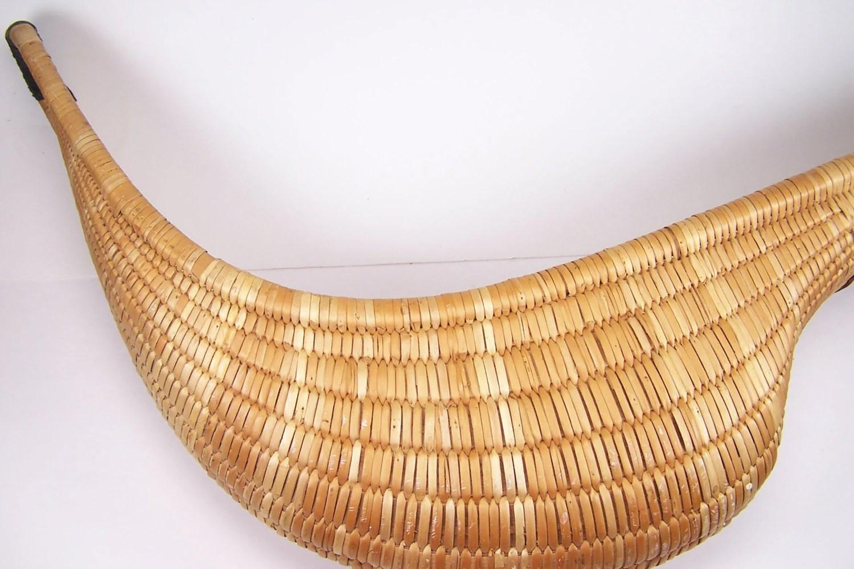 Vintage Jai Alai Basket Mitt Basket Weave With By Garageinc