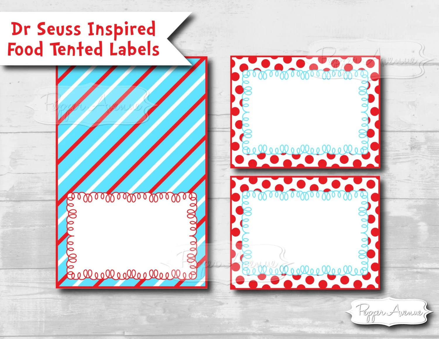 INSTANT DOWNLOAD Dr Seuss Inspired Flat Amp Tented Labels