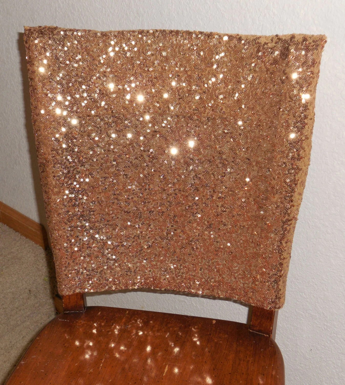gold sequin chair covers plush padded moon saucer in red cap cover also champagne and by