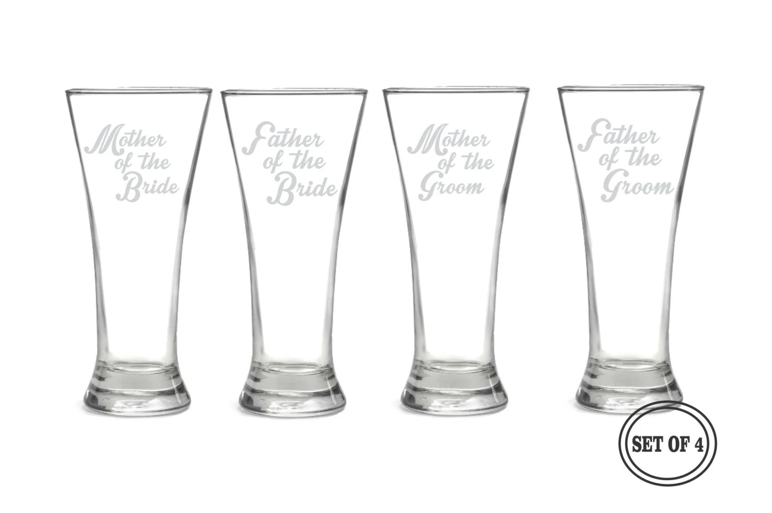 4 Etched Beer Pilsner For Parents Beer By Creativebutterflyxox