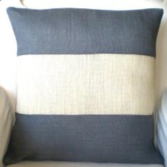Cream Colored Sofa Pillows Sprung Mattress Leather Bed Gray Burlap Color Block Pillow Cover Throw