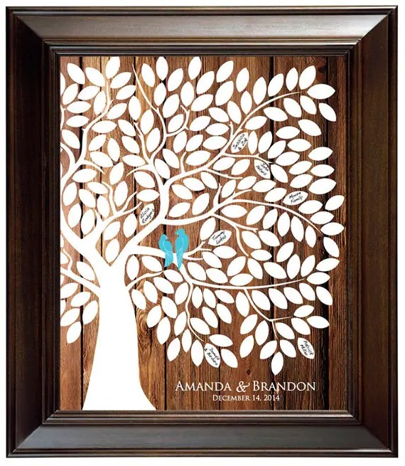 Guest Book Alternative Guest Book Tree Wood Wedding Tree