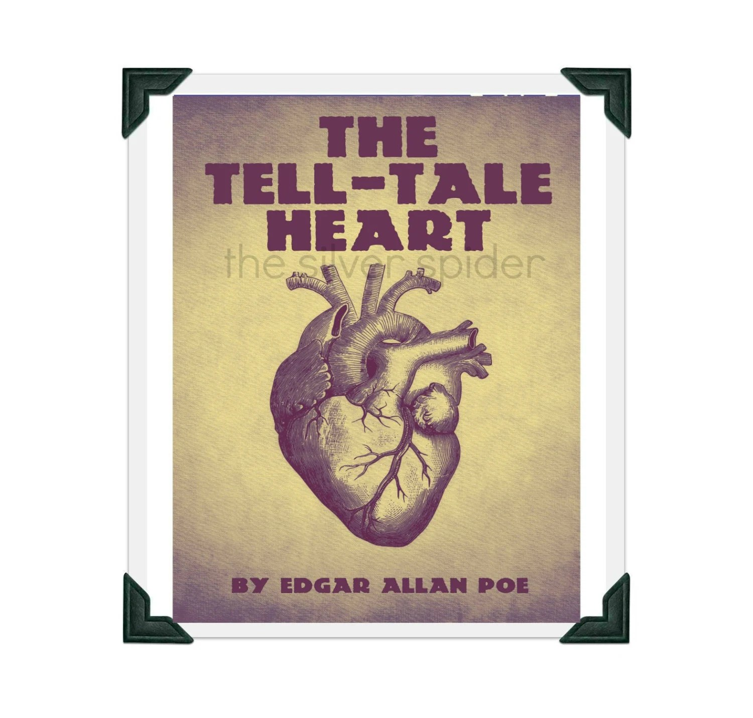 The Tell Tale Heart By Edgar Allan Poe Print 8 5x11 Inch